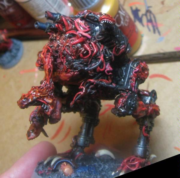 Chaos Daemons, Conversion, Daemon Prince, Sentinel, Warhammer 40,000, Work In Progress