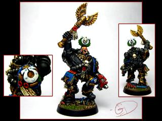 Chaplain, Space Marines, Ultramarines, Warhammer 40,000