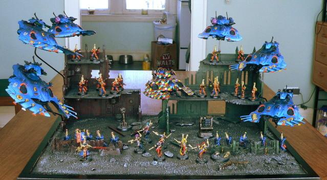 Army, Eldar, Urban Base, Warhammer 40,000