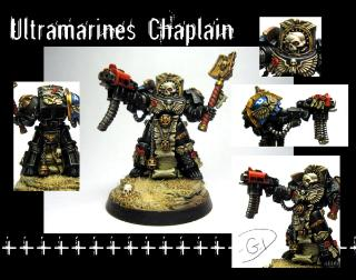 Chaplain, Space Marines, Terminator Armor, Ultramarines, Warhammer 40,000