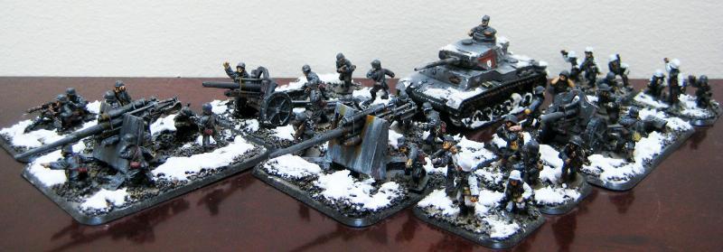 15mm, Anti-aircraft Gun, Battlefront, Flames Of War, Germany, Infantry, Tank, World War 2