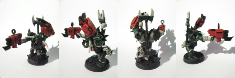 Blood Axe, Nob, Orks, Warhammer 40,000, Work In Progress