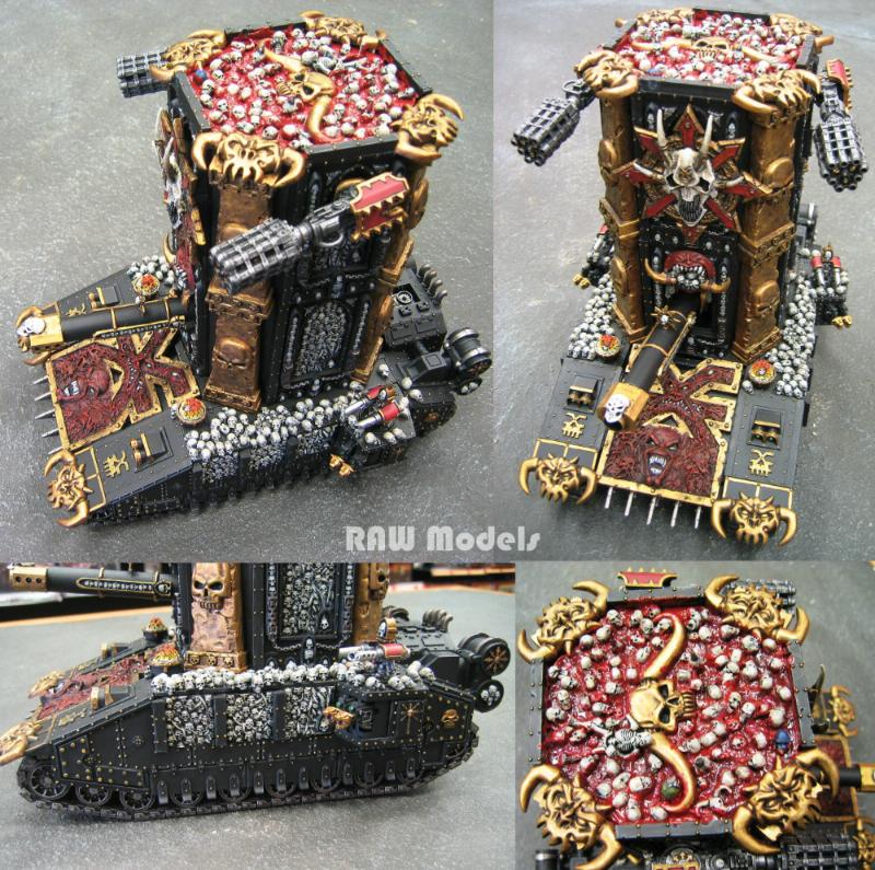 Apocalypse, Chaos, Chaos Space Marines, Conversion, Khorne, Super-heavy, Tank, Warhammer 40,000