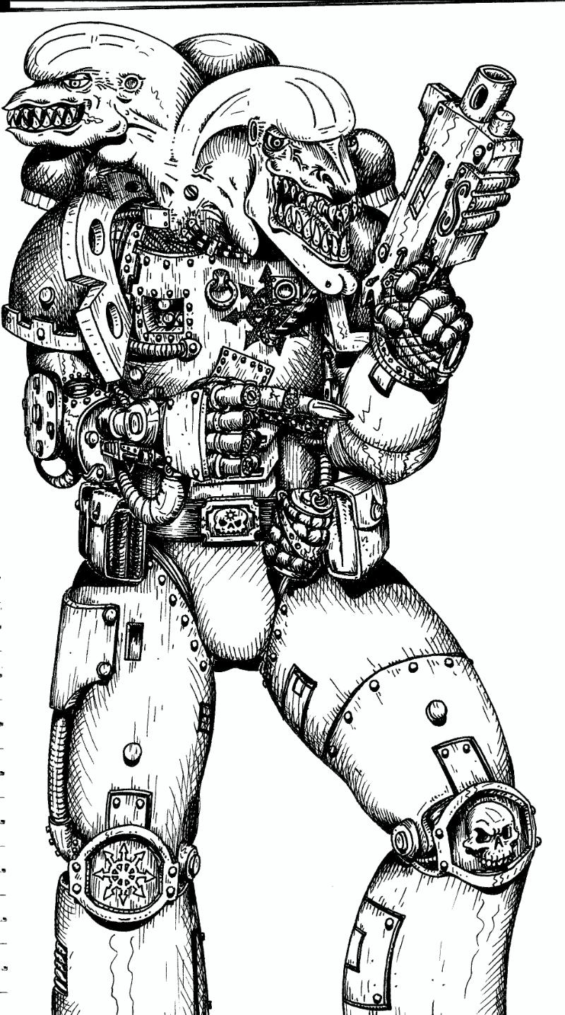 80 S Artwork Chaos Chaos Space Marines Conversion