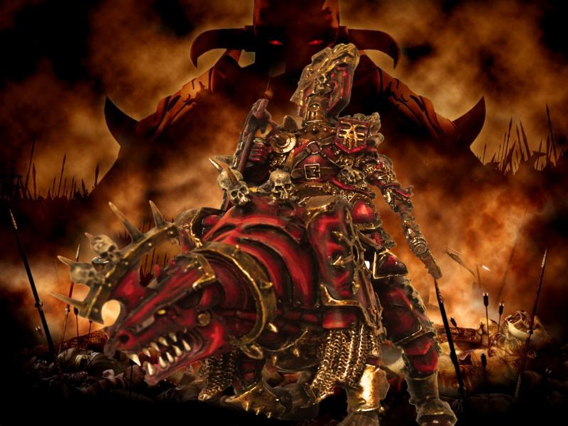 Chaos, Chaos Daemons, Chaos Space Marines, Conversion, Daemons, Khorne, Khorne Lord, Warhammer 40,000