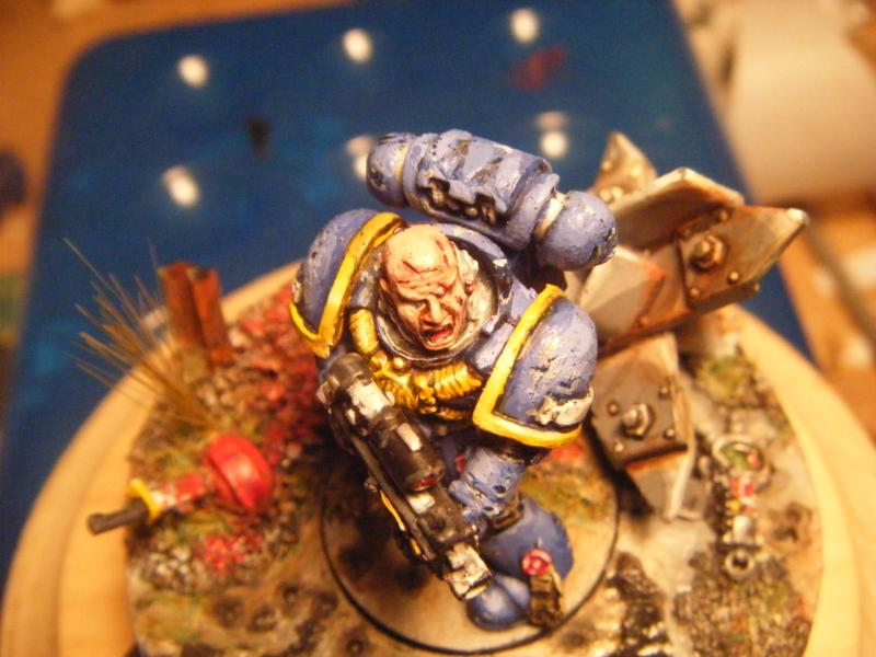 Close-up, Ultramarines, Weathered