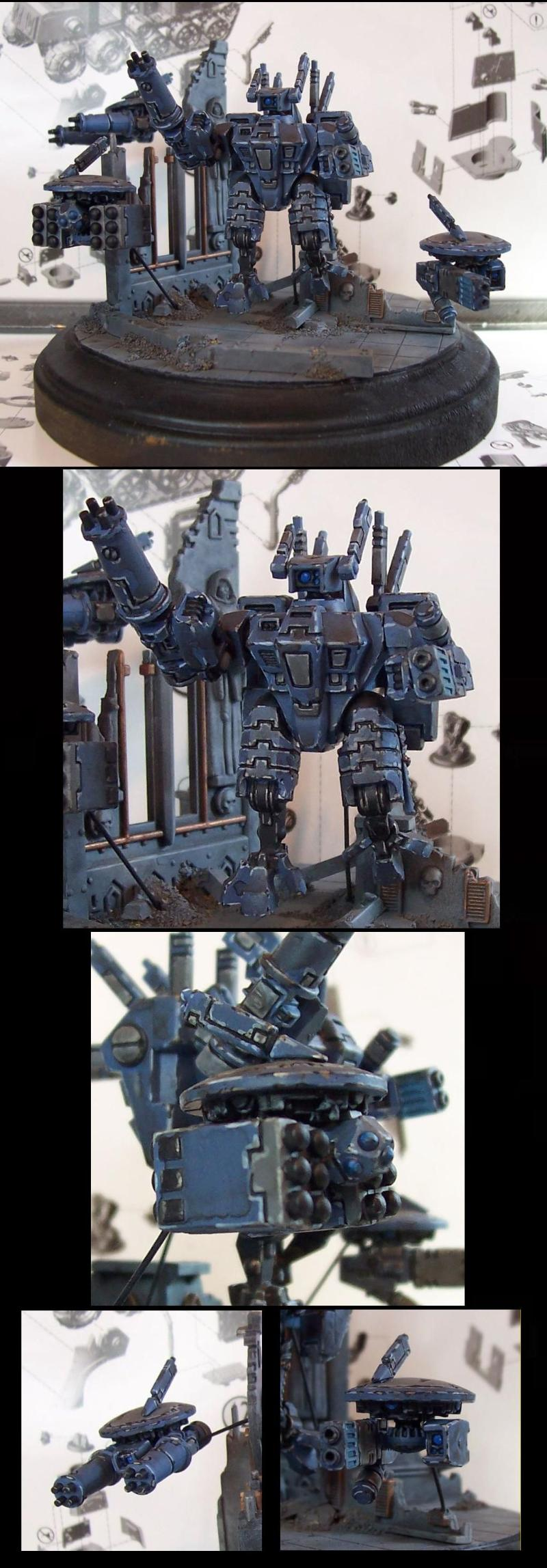 Battlesuit, Conversion, Diorama, Drones, Tau