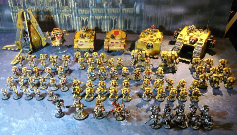 Army, Drop Pod, Imperial Fists, Land Crusader, Land Speeder, Rhino. Razorback, Space Marines, Terminator Armor