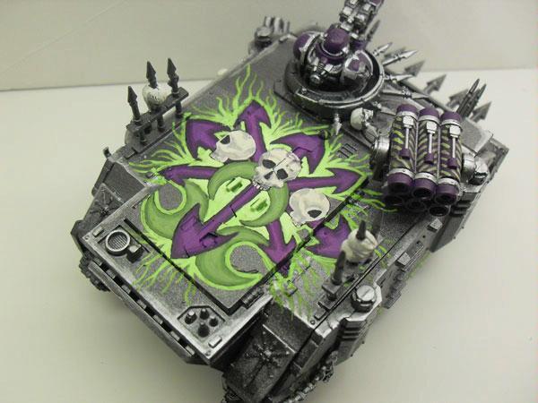 Chaos, Rhino, Chaos Warhammer 40k Rhino Tank