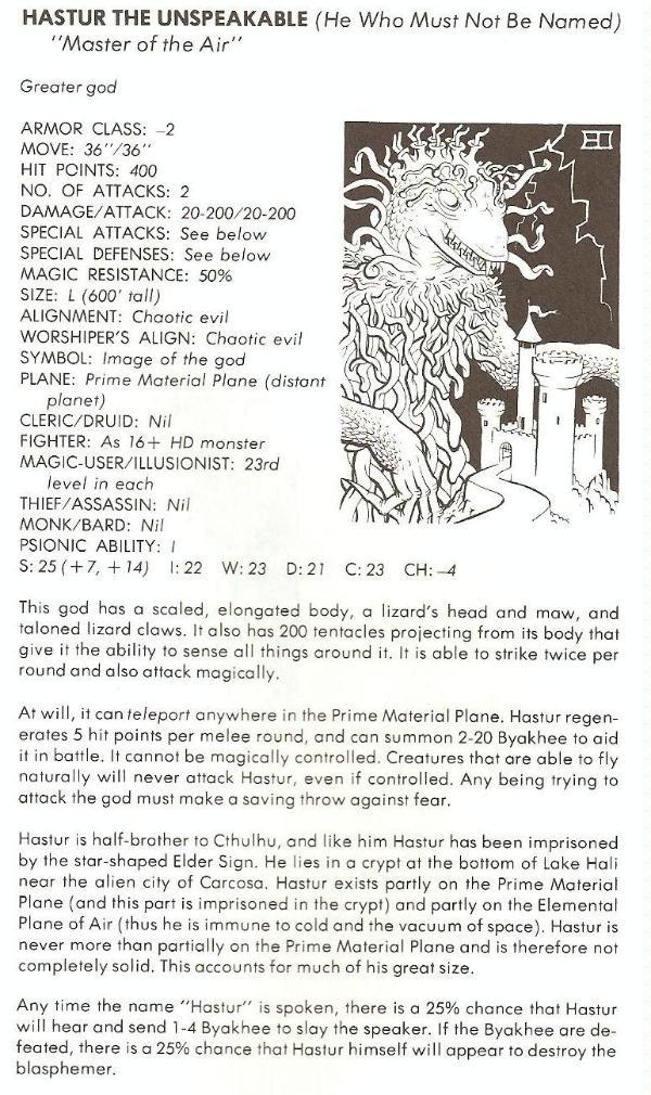 RETRO REVIEW - Deities and Demigods (1980 D&D book) - Forum
