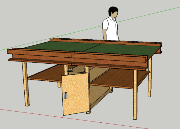 I Have Been Considering Building The Following Game Table Since I Saw A  Pingpong Table With Ingenious Design: