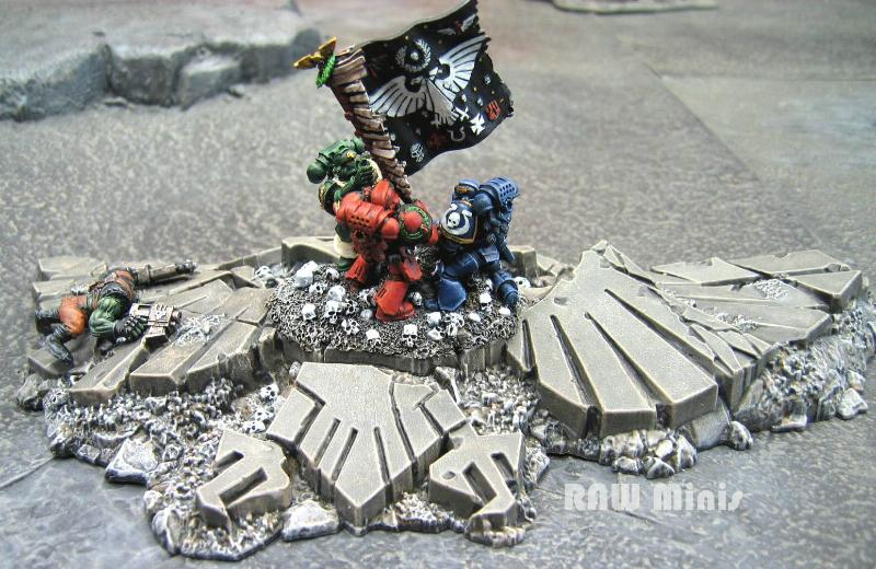 Blood Angels, Conversion, Dark Angels, Diorama, Imperial, Painting, Space Marines, Terrain, Ultramarines, Warhammer 40,000
