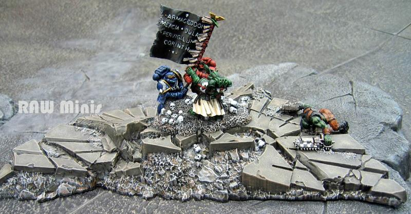 Conversion, Diorama, Imperial, Painting, Space Marines, Warhammer 40,000