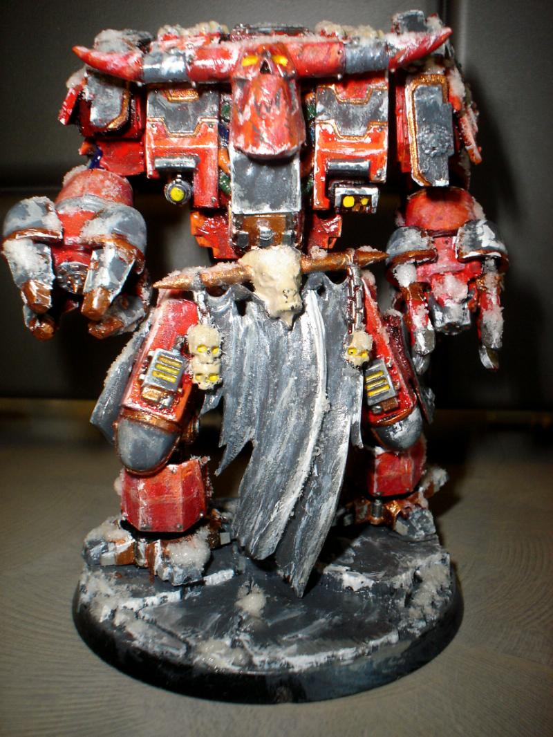 Chaos, Conversion, Deff Dread, Khorne, Orks, Warhammer 40,000