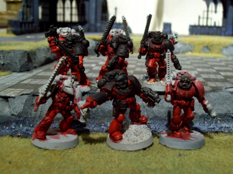 Assault Squad, Blood Angels, Flesh Tearers, Metal Figures
