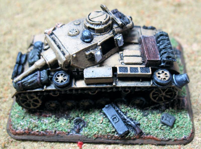 Flames Of War, Germans, Objective Marker, Pz Iii, World War 2 - Destroyed PZ III Objective ...