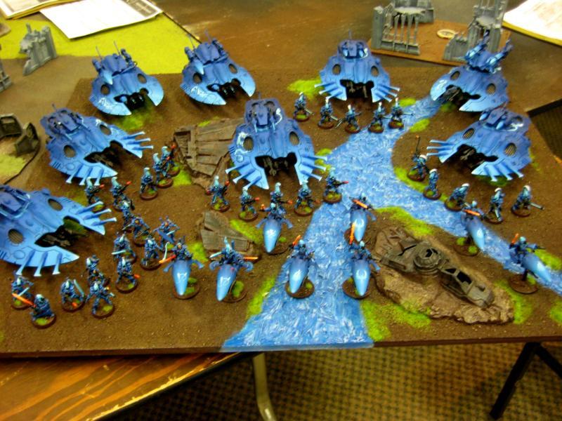 Army, Dire Avengers, Eldar, Farseer, Fire Dragon, Jetbike, Seer Council, Storm Guardians, Warlock