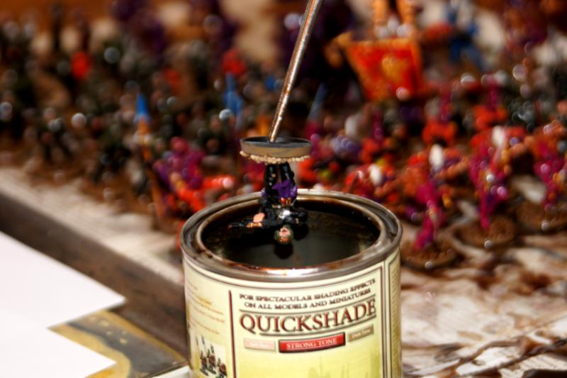 i put my minis with medical forceps into the can of quickshade and hold it for a while - Quick Shade