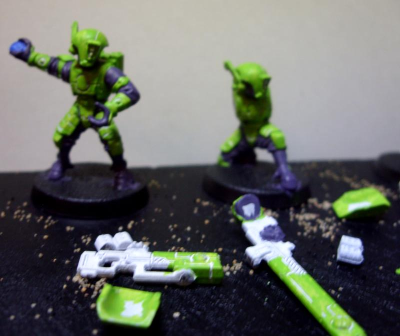 Fire Warriors Gun Drones Kroot Stealth Suit Tau Work In Progress