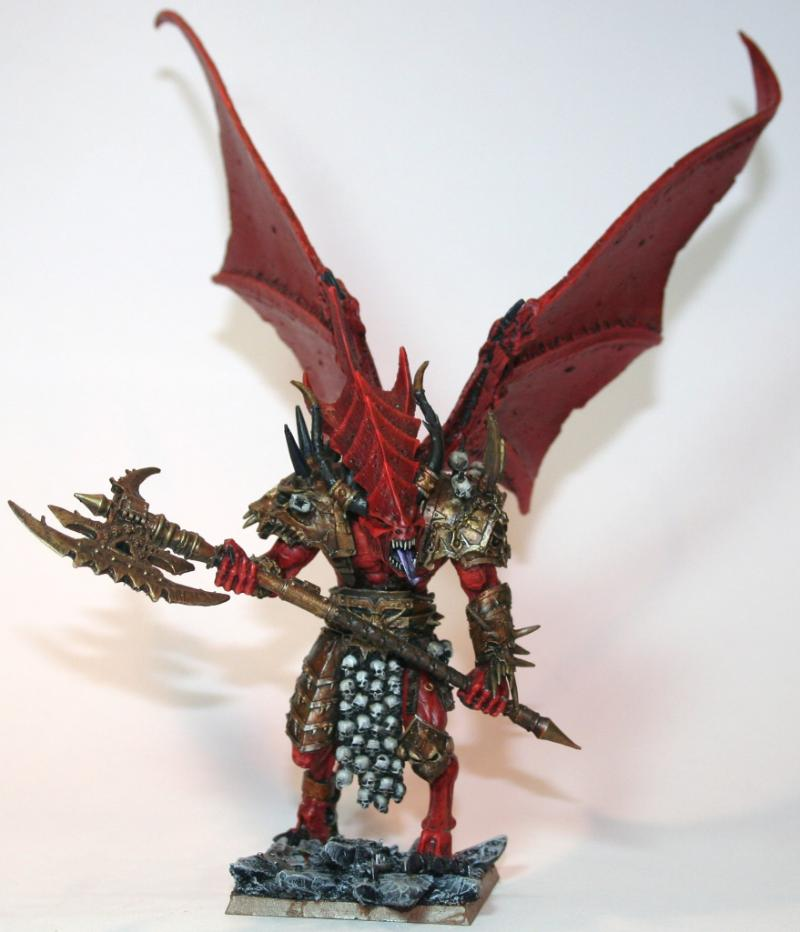 Daemon Prince vs Bloodthirster a Forgeworld Daemon Prince