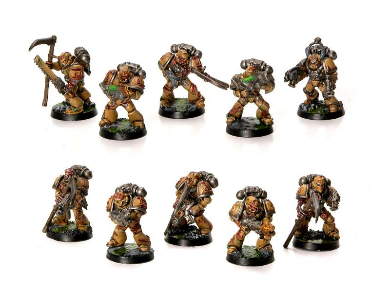 chaos space marines plague marines plague marines gallery dakkadakka. Black Bedroom Furniture Sets. Home Design Ideas