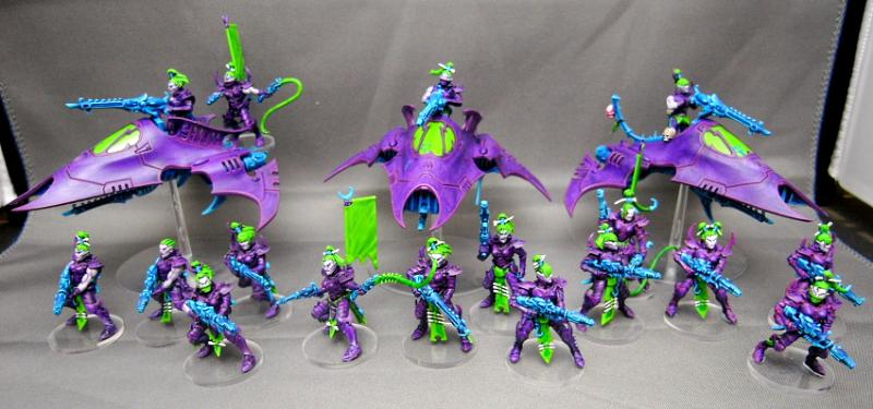 Painting Scheme Dark Elf style 270566_md-Blasters,%20Bright%20Green,%20Dark%20Eldar,%20Purple,%20True%20Born,%20Trueborn,%20Work%20In%20Progress