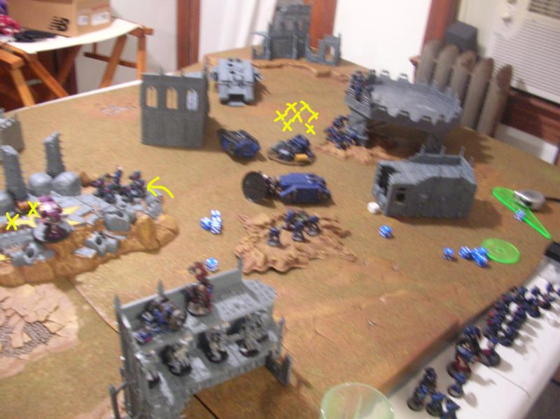 Battle Report, Crimson, Crimson Fists, Fists, Space Marines, Tyranids