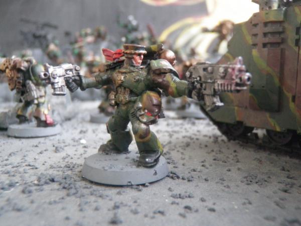 BIN53 Warhammer Space Marines Dark Angles Terminators Gunner Head Bits