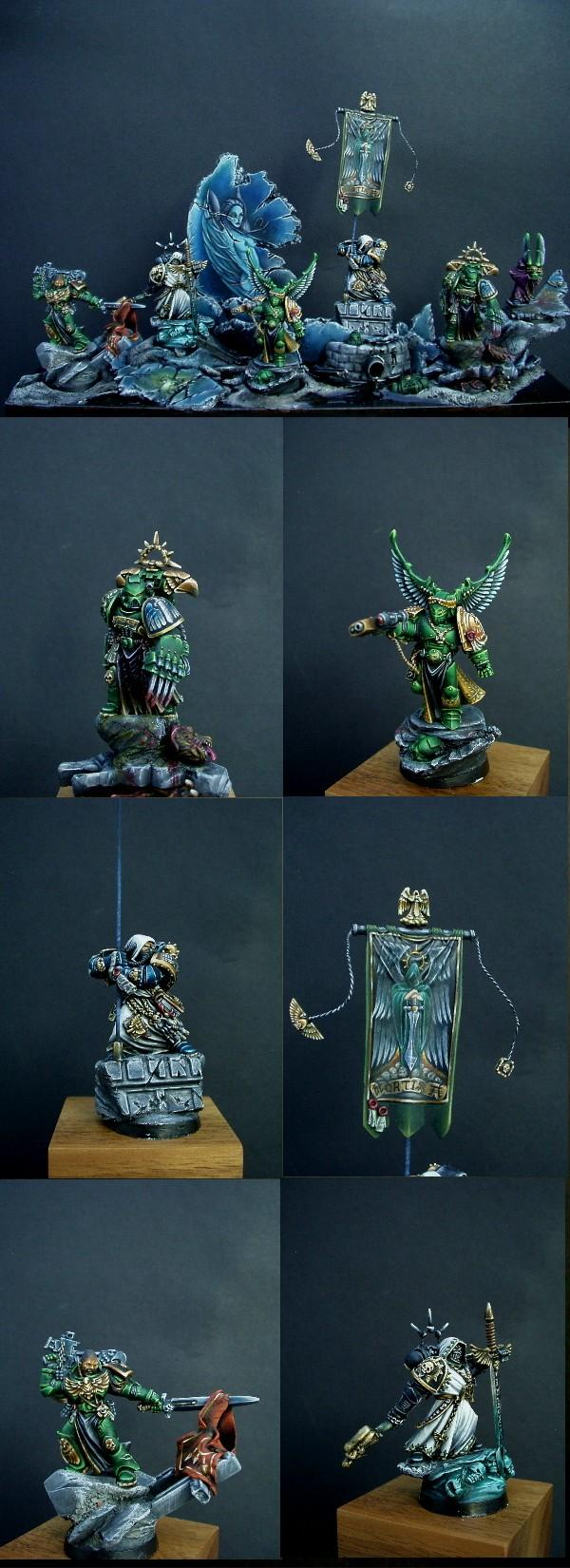 Banner, Dark Angels, Freehand, Space Marines