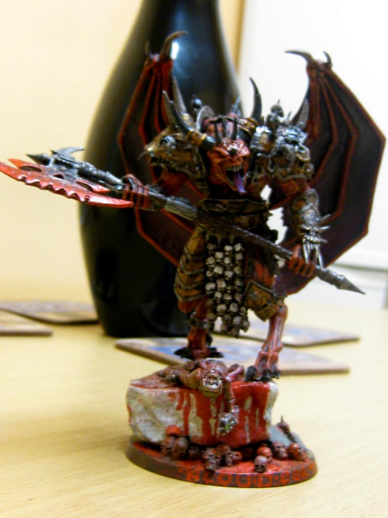 Daemon Prince vs Bloodthirster my Forgeworld Daemon Prince of