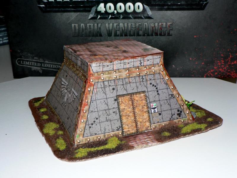 Bunker, Paper, Papercraft, Terrain