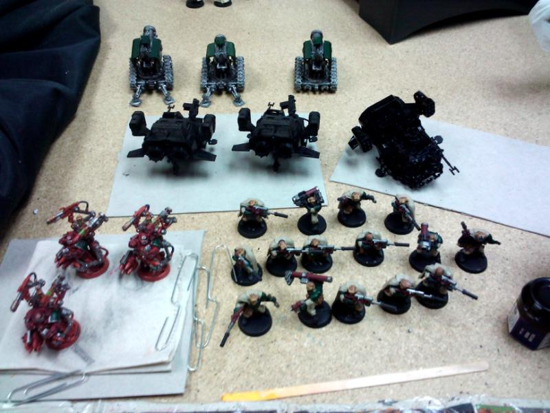Commission, Dark Angels, Games Workshop, Painting, Scouts, Space Marines, Techmarine, Thunderfire, Warhammer 40,000