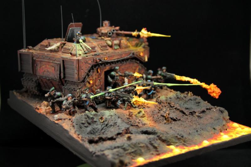 Diorama, Imperial Guard, Tank