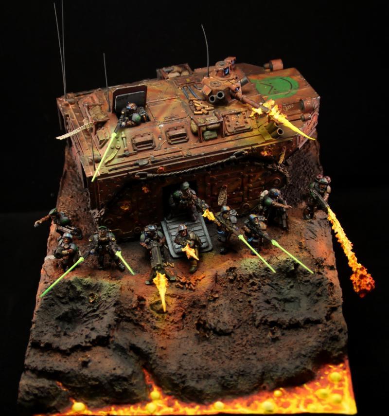 Armageddon, Battleline, Bunker, Catachan, Defense, Diorama, Flamer, Guard, Heavy Bolter, Imperial Guard, Lascannon, Lasgun, Last Stands, Lava, Object Source Lighting, Turret, Warhammer 40,000