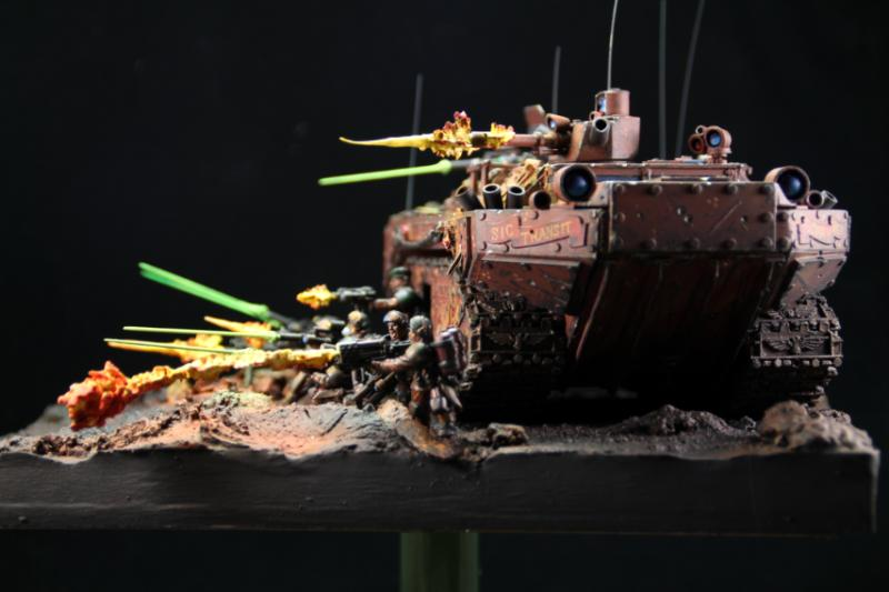 Diorama, Imperial Guard, Weapon Effects
