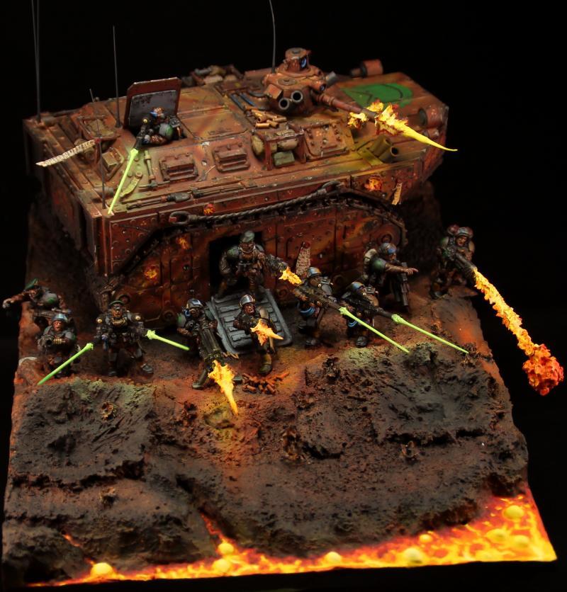Awesome, Chimera, Diarama, Fire, Imperial Guard, Lava