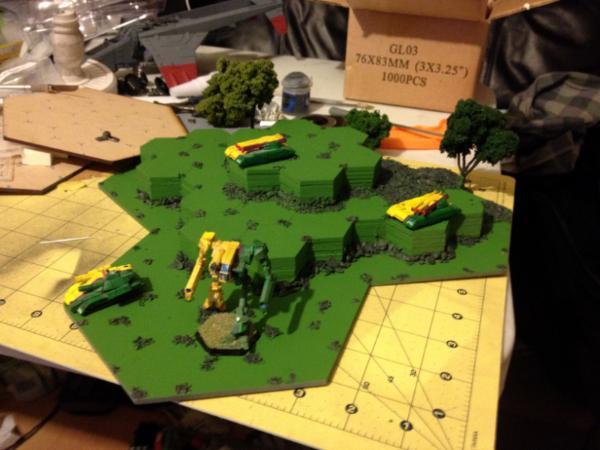 3D Hex terrain WIP