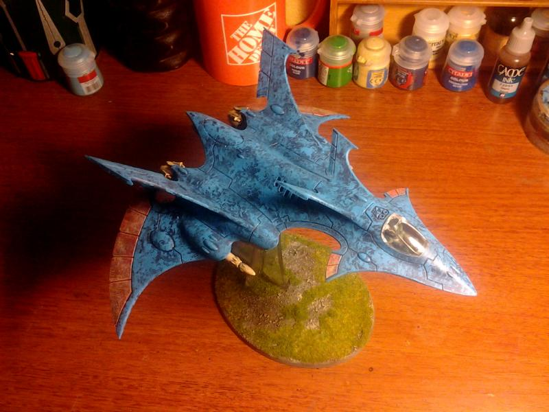 6th Edition, Alaitoc, Crimson Hunter, Eldar, Flyer, Painted, Warhammer 40,000