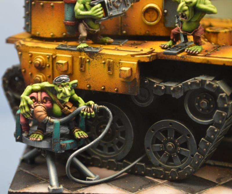 Adepticon 2014, Crystal Brush, Dioramma, Grot Tank, Grots, Orks, Squigs, Warhammer 40,000, Weathered