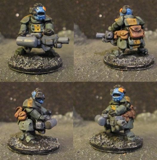 Barzam Paints random miniatures- 7/24/19 Tiny Space Marines