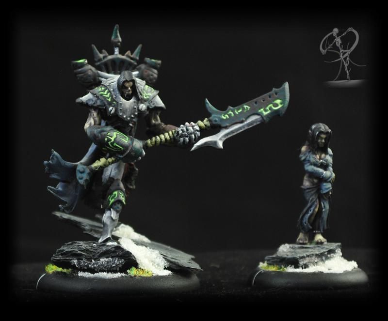 Cryx, Freehand, Glow, Green, Non-Metallic Metal, Robots, Runes, Steampunk, Warmachine