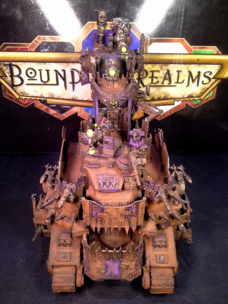 Baneblade, Battle Fortress, Battlewagon, Conversion, Custom, Draw Bridge, Lord Of War, Mad Max, Mekboy, Object Source Lighting, Orks, Rust, Super-heavy, Turret