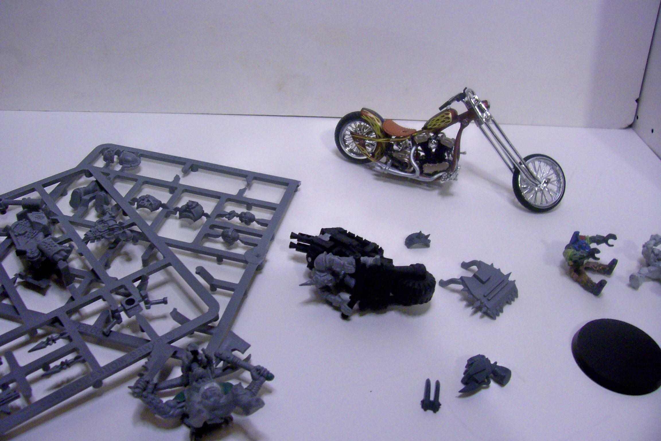 Bike, Conversion, Orks, Toy, Warhammer 40,000, Work In Progress