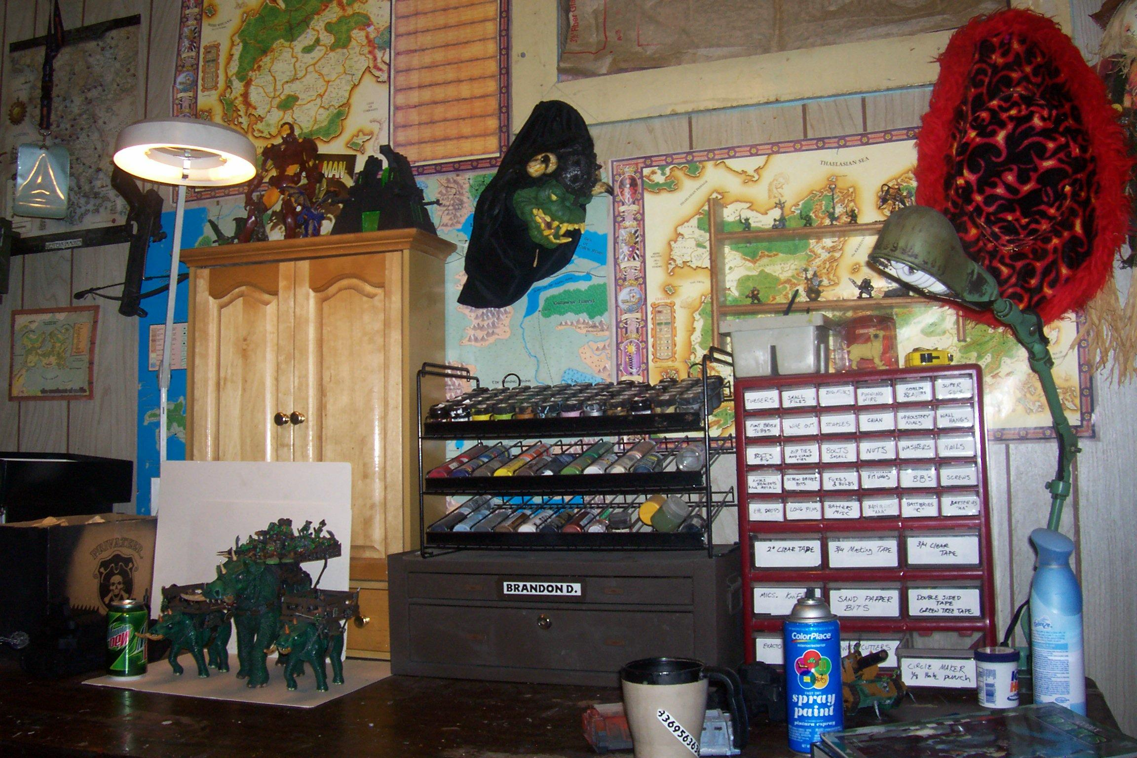 Game Room, Painting Supplies
