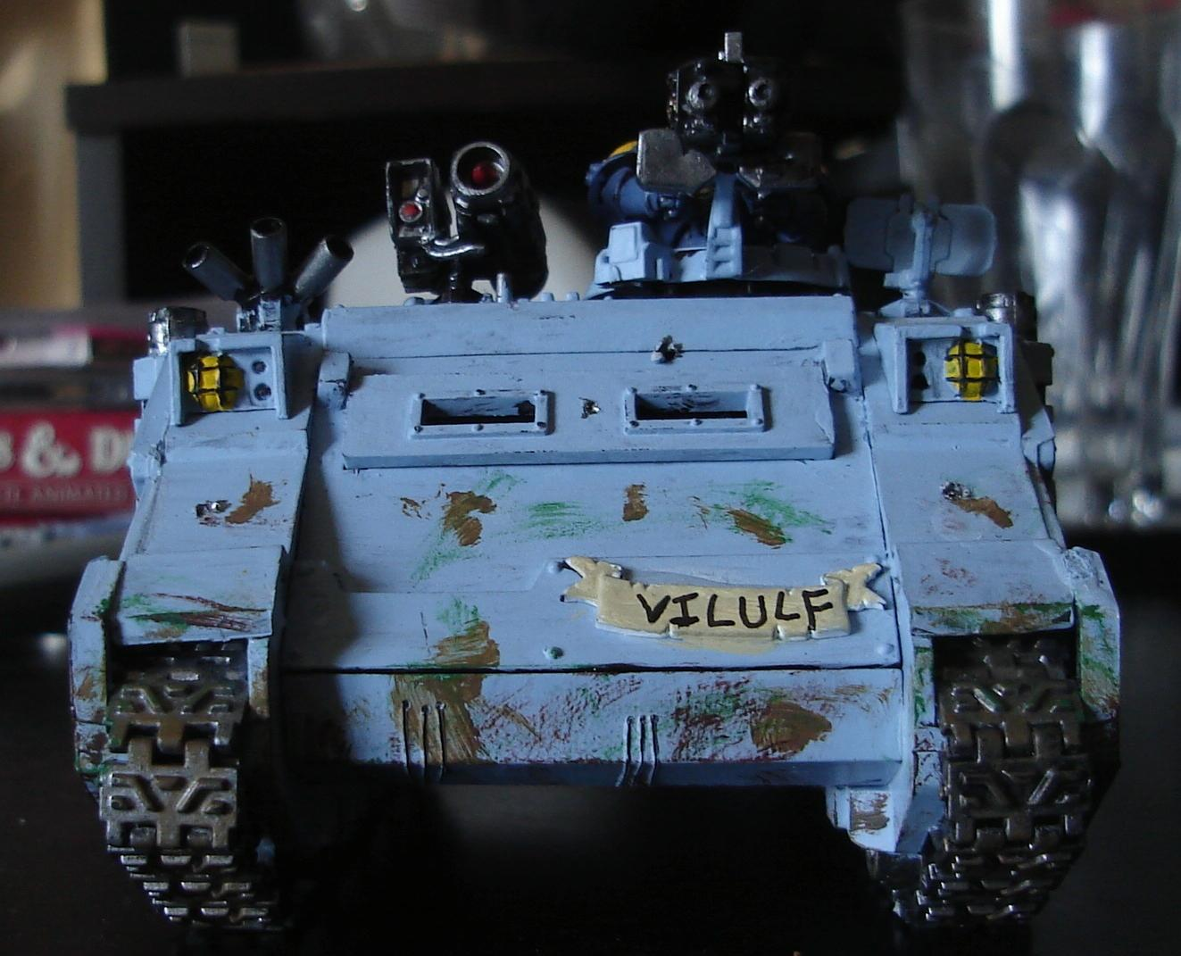 Rhino, Space Marines, Space Wolves, Tank, Vehicle, Warhammer 40,000, Weathered