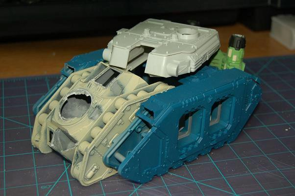 Battlewagon, Conversion, Orks, Warhammer 40,000, Work In Progress