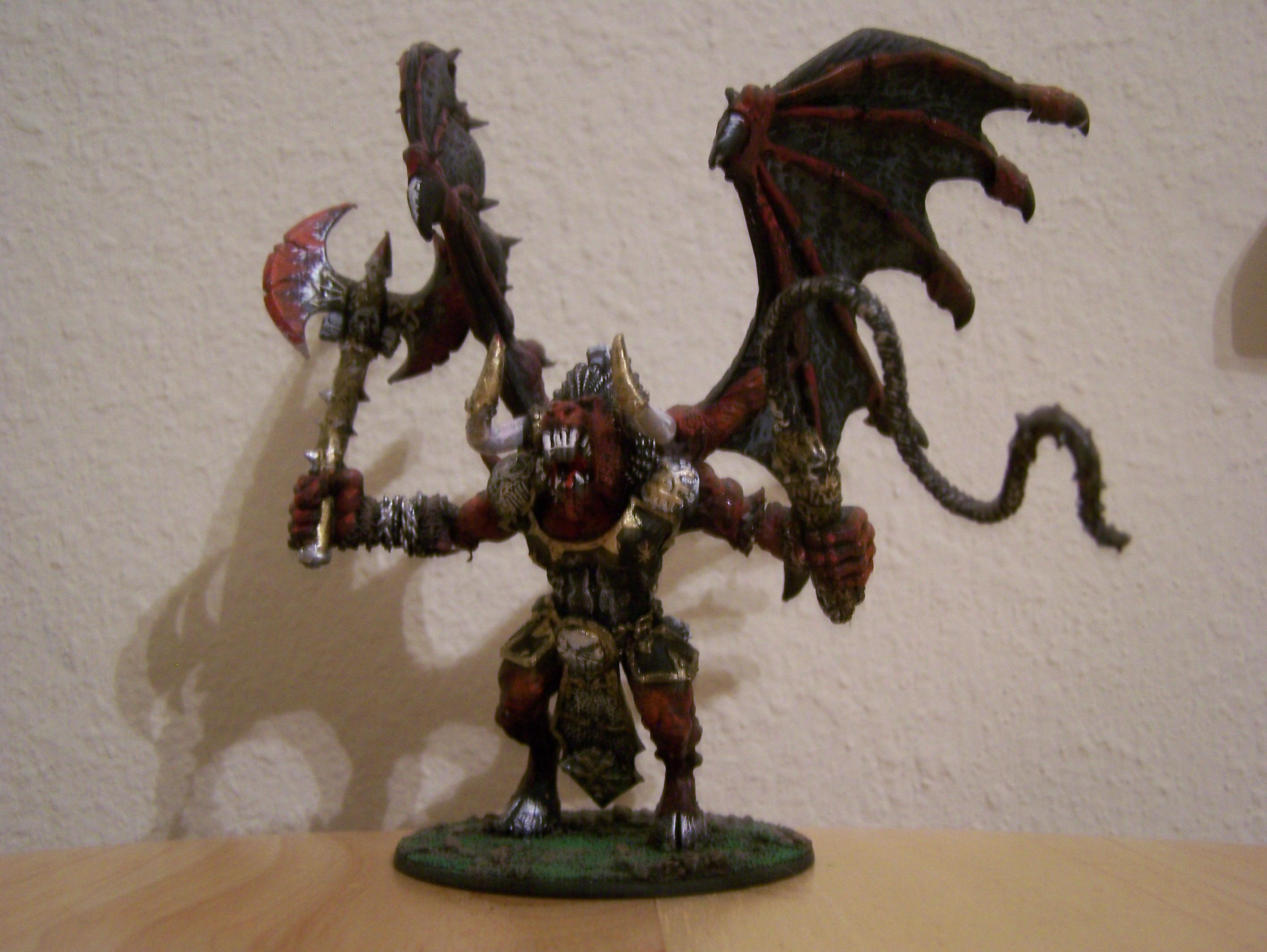 Bloodthirster, Blurred Photo, Daemons, First Model, Khorne, Warhammer 40,000, Warhammer Fantasy