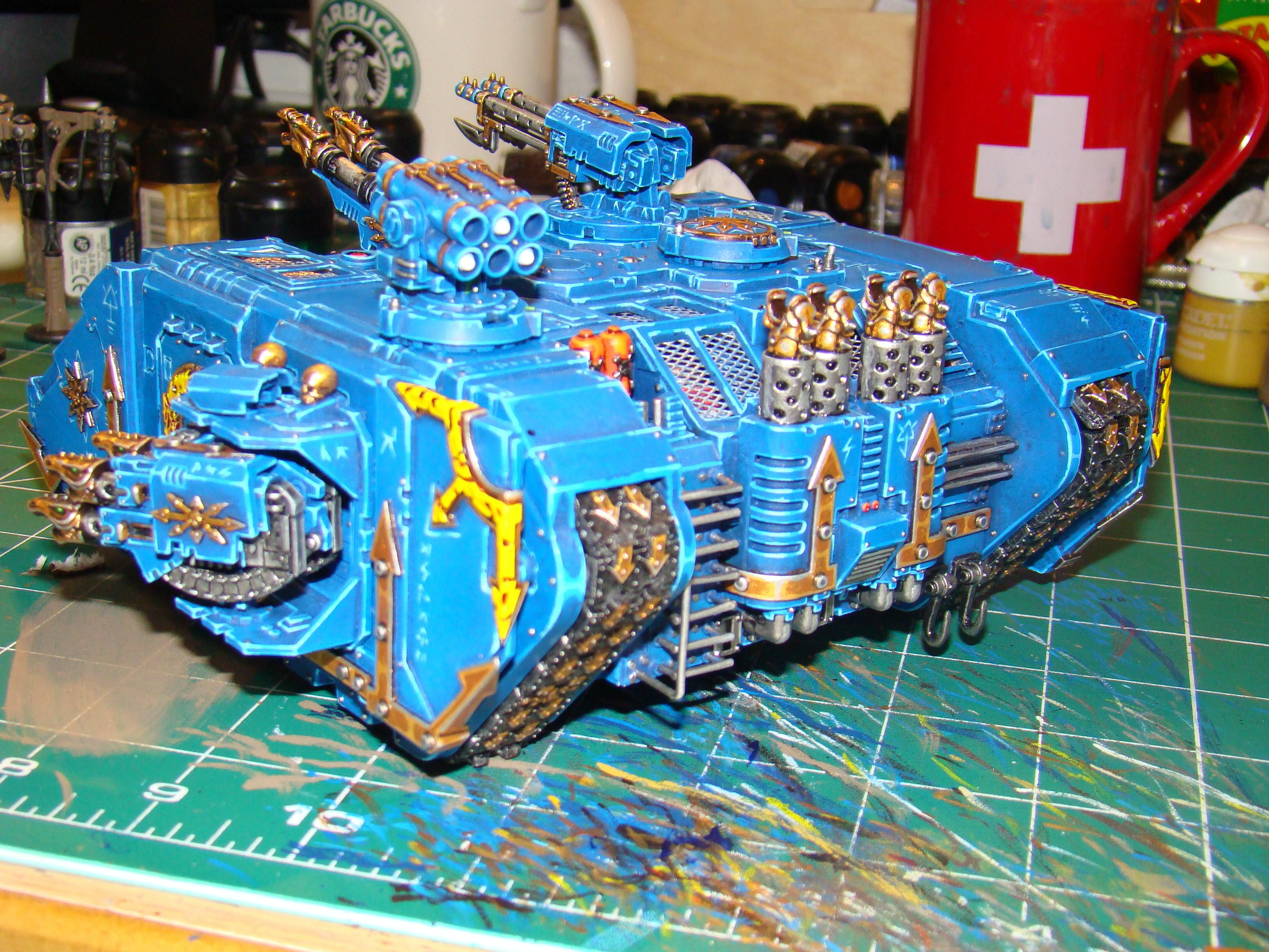 Chaos, Chaos Space Marines, Land Raider, Tank, Thousand Sons, Vehicle, Warhammer 40,000