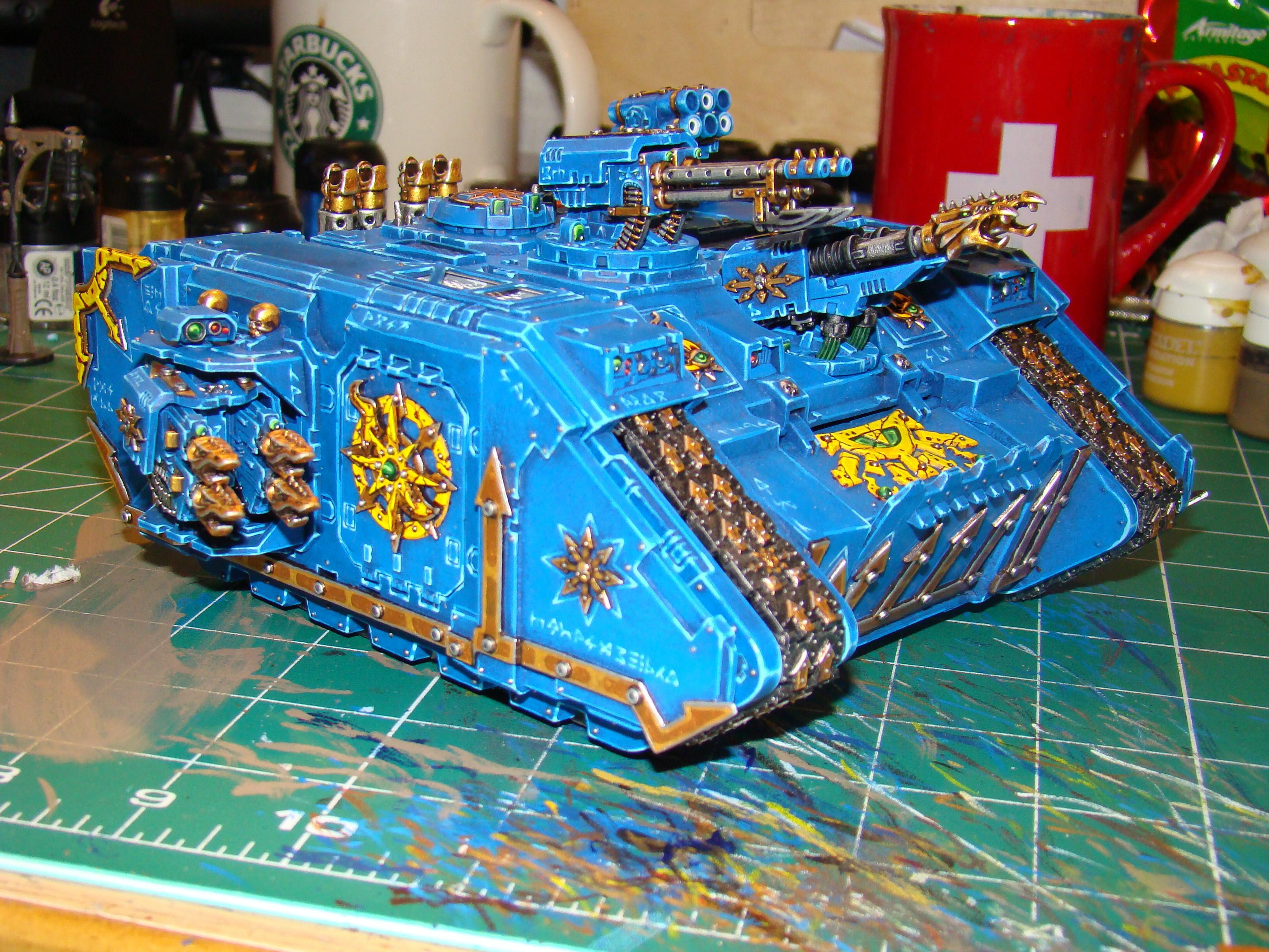 Chaos, Chaos Space Marines, Land Raider, Tank, Thousand Sons, Tzeentch, Vehicle, Warhammer 40,000
