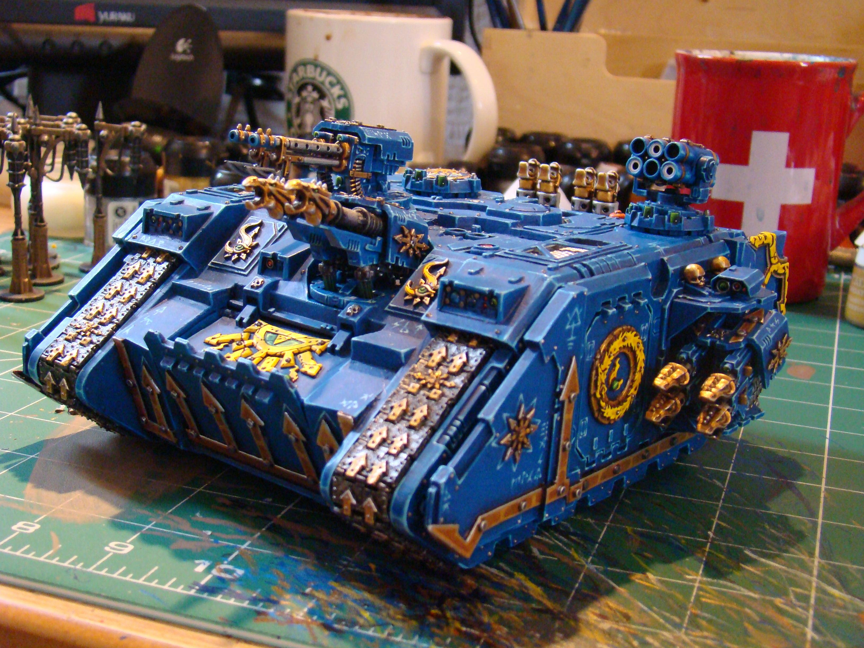 Chaos, Chaos Space Marines, Conversion, Land Raider, Tank, Thousand Sons, Tzeentch, Vehicle, Warhammer 40,000